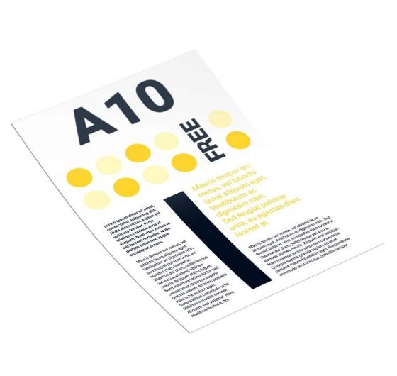 Печать рекламных листовок А10