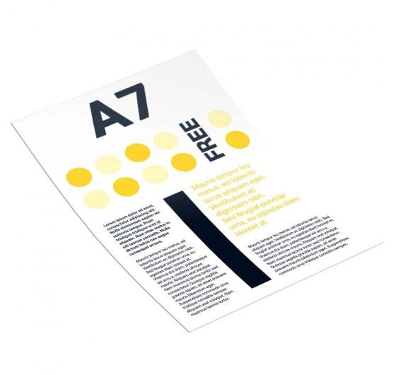 Печать рекламных листовок А7