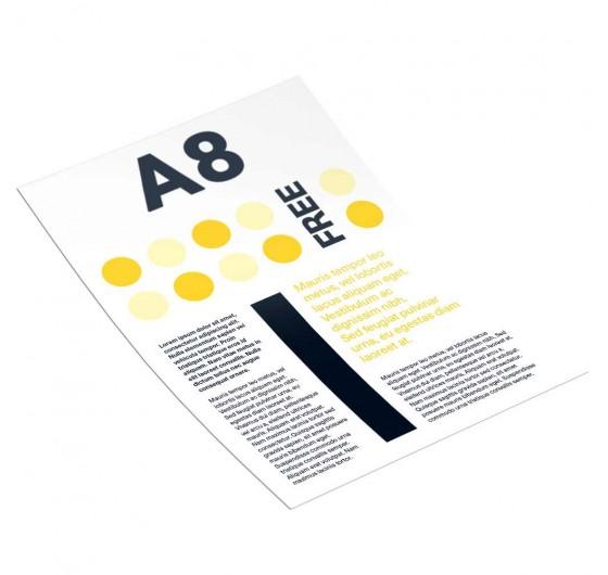 Печать рекламных листовок А8