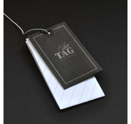 Бирка на одежду (черный картон)