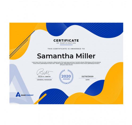 Сертификаты А4
