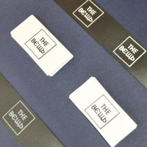 Бирки черный сатин с логотипом