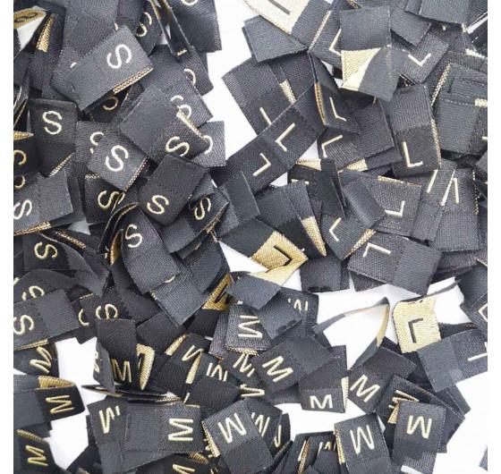 Жаккардовые размерники на черном фоне
