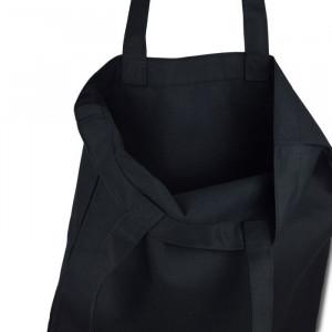 Эко сумка чёрная саржа